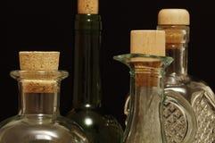 Szklane butelki Zdjęcia Royalty Free
