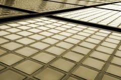 Szklane cegły Fasadowe fotografia stock