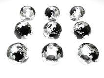 szklane globusy Zdjęcie Royalty Free
