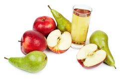 szklane jabłko soku gruszki obrazy royalty free
