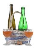 szklane kosz butelki Obrazy Royalty Free