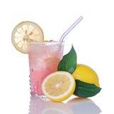 szklane lemoniady cytryn menchie zdjęcia stock