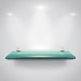 Szklane półki z punktu światłem ilustracja wektor