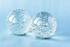 Szklane piłki z wewnętrznymi bąblami Zdjęcie Stock