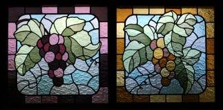 szklane winogrona oznaczane Zdjęcia Stock