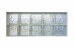 Szklanego bloku okno Zdjęcia Royalty Free