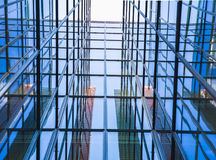 Szklanego okno budynek od perspectival widoku Obrazy Royalty Free