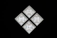 Szklanej ściany dom na czarnym tle Obraz Royalty Free