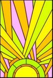 szklanej ilustracji oznaczony słońce Fotografia Stock