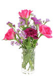 szklanej wazon kwiaty Zdjęcia Royalty Free