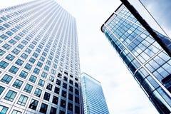 Szklani drapacze chmur w mieście Londyn Zdjęcia Royalty Free