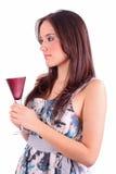 szklani mienia wina kobiety potomstwa Obraz Stock