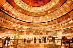Szklani poziomy popularny zakupy centrum handlowe Galeria Lafayette Zdjęcia Royalty Free