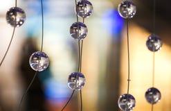 Szklani projektów elementy nowożytny świecznik Obraz Stock