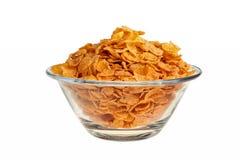 szklani pucharów cornflakes obrazy stock