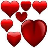 Szklani serca Zdjęcie Royalty Free
