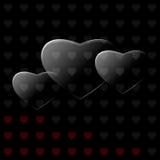 Szklani serca Obraz Stock