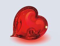 szklani serca dwa Obraz Royalty Free