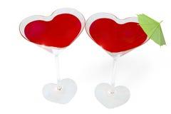szklani serca dwa Obrazy Stock