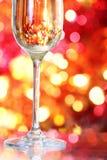 szklani szampańscy tło boże narodzenia Fotografia Royalty Free
