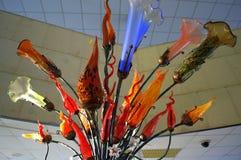 Szklani sztuka kwiaty Fotografia Royalty Free