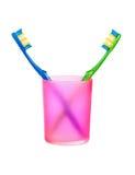 szklani toothbrushes Fotografia Stock