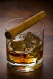 szklankę whisky. Obrazy Stock