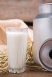 szklanki mleka Zdjęcia Stock