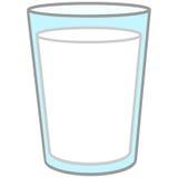 szklanki mleka royalty ilustracja