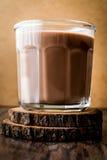 szklanki mleka czekoladowego Obrazy Stock