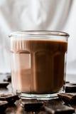szklanki mleka czekoladowego Obrazy Royalty Free