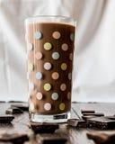szklanki mleka czekoladowego Fotografia Stock