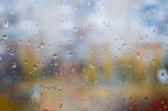 szklanki wody krople okno Obraz Stock