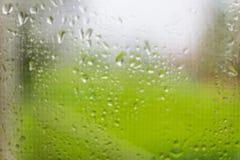 szklanki wody krople okno Zdjęcia Stock