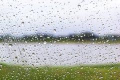szklanki wody krople okno Zdjęcia Royalty Free