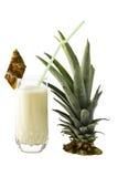 szklany ananasowy potrząśnięcie zdjęcia stock