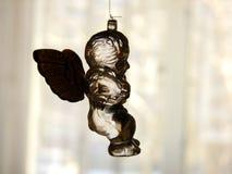 Szklany anioł przed okno Fotografia Royalty Free