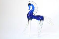 Szklany błękitny koń Zdjęcia Royalty Free