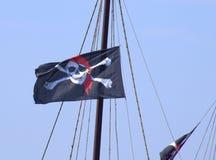szklany bandery piratów dostępne stylu wektora Obrazy Stock