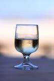 szklany biały wino fotografia stock