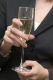 szklany białego wina Zdjęcia Royalty Free