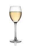 szklany biały wino Obraz Royalty Free