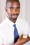 szklany biznesmena wino Obrazy Stock
