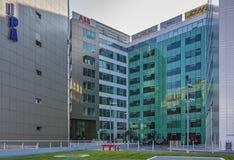 Szklany budynek biurowy, centrum biznesu zdjęcie stock