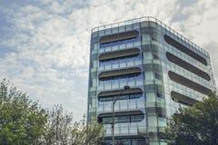 szklany budynek nowoczesnego urzędu Obrazy Stock
