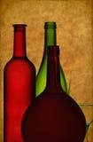 szklany butelki wino Zdjęcie Stock
