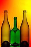 szklany butelki wino Fotografia Royalty Free