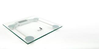 Szklany Cyfrowy Waży maszynę Fotografia Stock