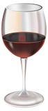 szklany czerwone wino ilustracja wektor