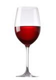 szklany czerwone wino Fotografia Royalty Free